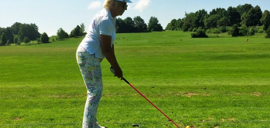 Golf Training Ansprechposition seitlich